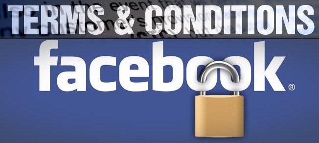 Termos e condições do Facebook